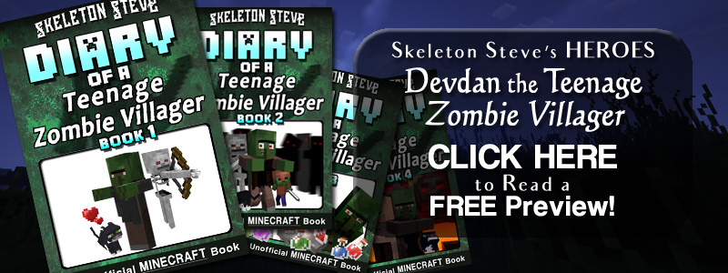 PREVIEW Diary of a Minecraft Zombie Villager!